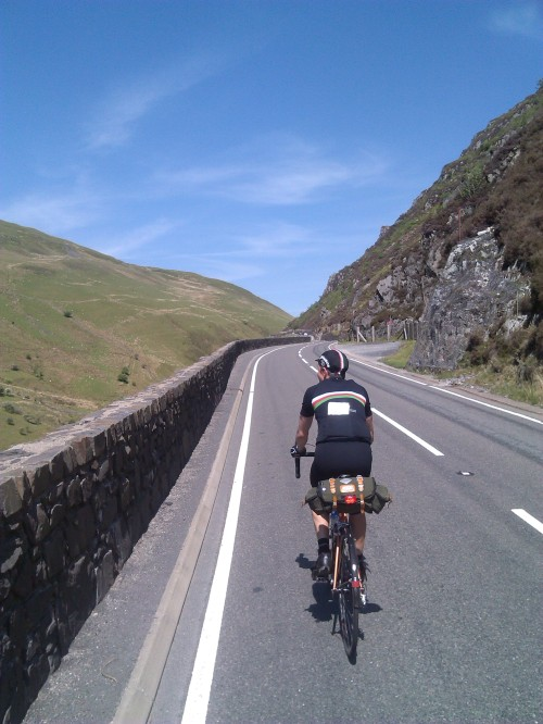 Getting near the top past Machynlleth